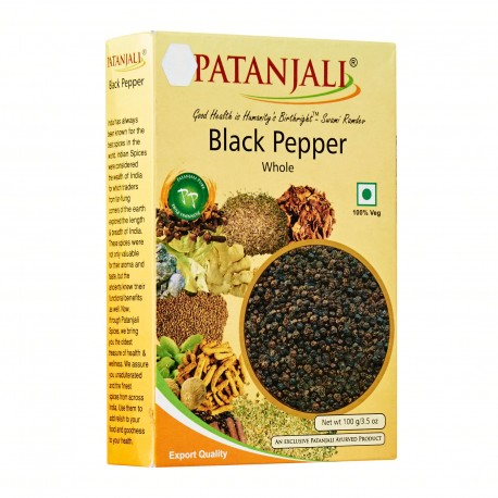 Patanjali Black Pepper Whole 100g