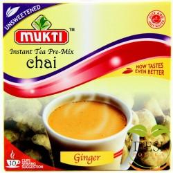 Mukti Instant Tea Ginger Unsweetened 10 Sachet