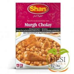 Mieszanka przypraw do curry z kurczakiem i ciecierzycą Shan 50g