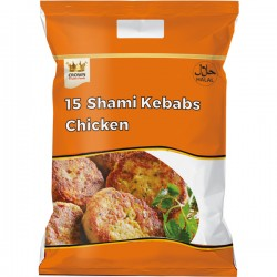 Crown Chicken Shami Kebabs ( 15 Pcs ) 600g