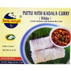 Daily Delight Puttu with Kadala Curry (White) 454g ( Ready to eat )