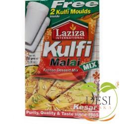 Laziza Kulfi Malai Mix - Kesar Safran, with 2x Kulfi Moulds (152g)