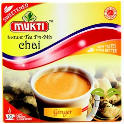 Mukti Instant Tea Ginger Sweetened 10 Sachet